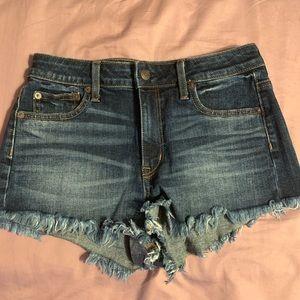 AE high rise jean shorts